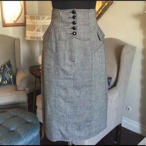 Nanette Lepore high waist lace up  pencil skirt